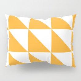Geometric Pattern 01 Yellow Pillow Sham
