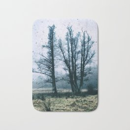 Bare Winter Trees Bath Mat