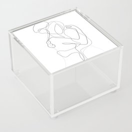 Lovers - Minimal Line Drawing Acrylic Box