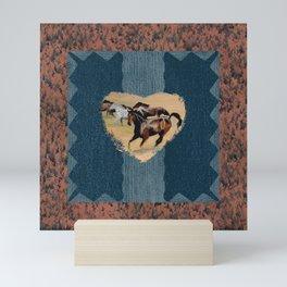 Horse and Western Theme Mini Art Print