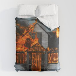 House on Fire Comforters