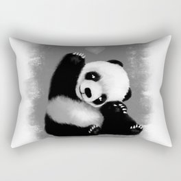 Panda Love (Monochrome) Rectangular Pillow
