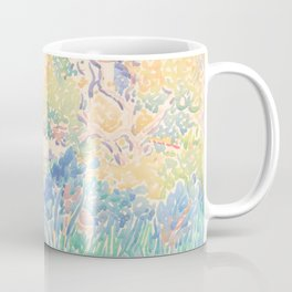 The Artist's Garden at Saint-Clair by Henri-Edmond Cross 1904-5, French Coffee Mug