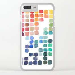 Favorite Colors Clear iPhone Case
