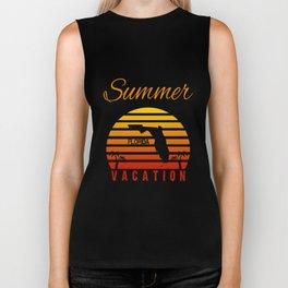 Summer Vacation Florida Miami Beach Holiday Retro Vintage Biker Tank