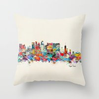 south africa Throw Pillows featuring Cape Town South Africa by bri.buckley