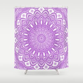 Beautiful Purple Violet Mandala Design Pattern Minimal Minimalistic Shower Curtain