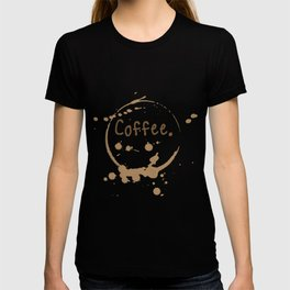 coffee cup splatter T-shirt