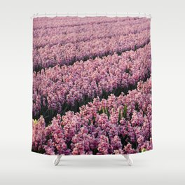 Hyacinth field Shower Curtain