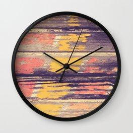 Weathered Painted Wood Wall Wall Clock