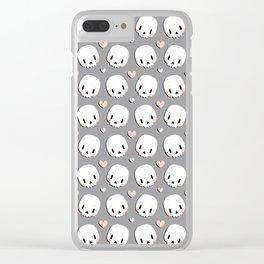 Skulls in love Clear iPhone Case