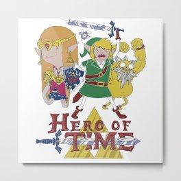 Adventures Time Zelda Metal Print