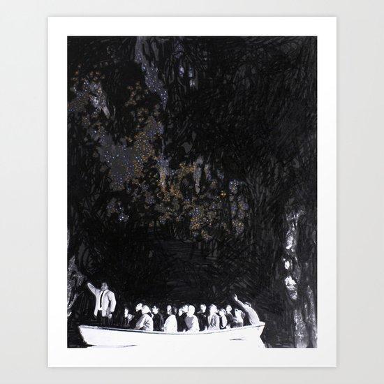 Cave Drawing II Art Print