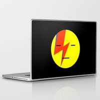 emoji Laptop & iPad Skins featuring bowie emoji by Rue du chat qui peche