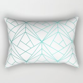 Geometric Turquoise Pattern Rectangular Pillow