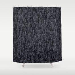 Crinkled Black Onyx Metallic Foil Shower Curtain