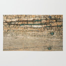 Rustic Wood Turquoise Paint Weathered and Aged to perfection Rug