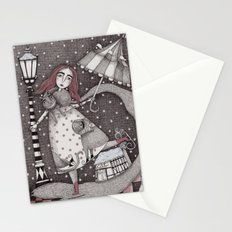 Alice's First Snow Stationery Cards