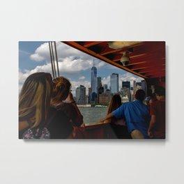 Freedom Tower & Tourists Metal Print
