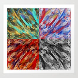 Abstraction Alteration - Abstract Painting - Bright Colorful Art Print