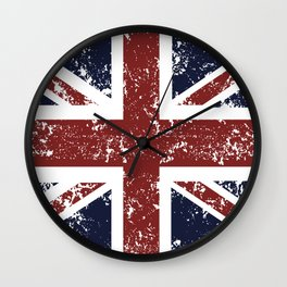 Old scratched United Kingdom flag Wall Clock