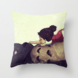 Friendship Never Ends Throw Pillow