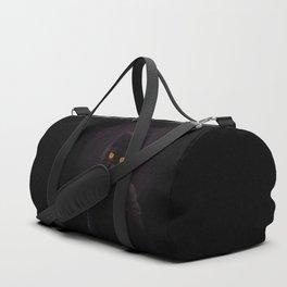 Black Cat On A Black Background #decor #buyart #society6 Duffle Bag