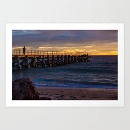 Sunset jetty Art Print