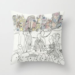 NYC buildings Throw Pillow