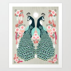 Peacocks by Andrea Lauren  Art Print