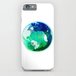 Every Day Is Earth Day - 03 Watercolor iPhone Case