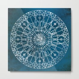 Rosette Window - Blue Metal Print