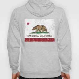California Flag San Diego distressed Hoody