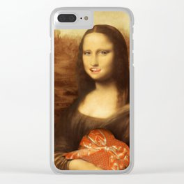 Mona Lisa Loves Valentine's Candy Clear iPhone Case