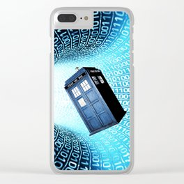 Tardis Time lord Clear iPhone Case