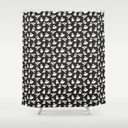 Ghosts on Black // Halloween Collection Shower Curtain