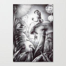 Alice e il Brucaliffo Canvas Print