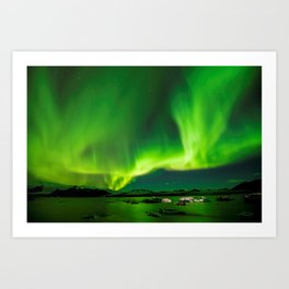 Northern Lights In Iceland Art Print