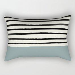 River Stone & Stripes Rectangular Pillow