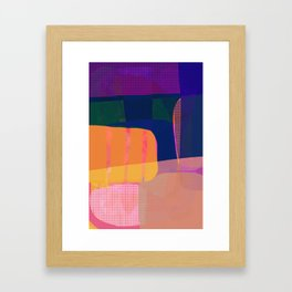 Morning with you abstract Framed Art Print