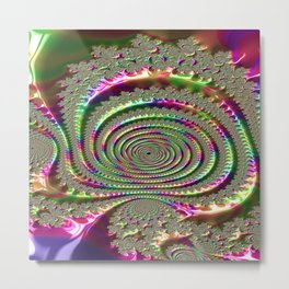 Masks of Jealousy Fractal - Abstract Art Metal Print