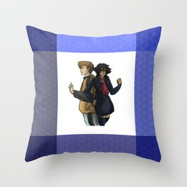 Blue and Hige Throw Pillow