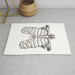 Rib Cage Funny Halloween Horror Scary Rug