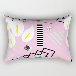 80's Calla Lily Floral Rectangular Pillow