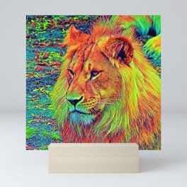 AnimalColor_Lion_004_by_JAMColors Mini Art Print