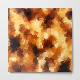 Cubist Fire Metal Print