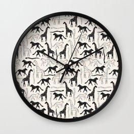 Safari Confetti Party Wall Clock