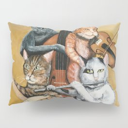 Cat Quartet Pillow Sham