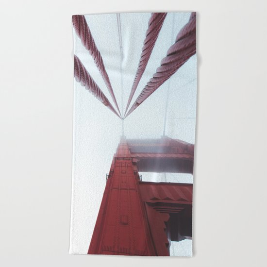 Golden Gate Bridge fogged up - San Francisco, CA Beach Towel