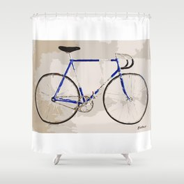 The Gios Track Bike Shower Curtain